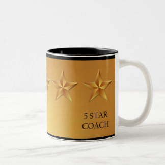 Coach Five 5 Star Award Gold Mug