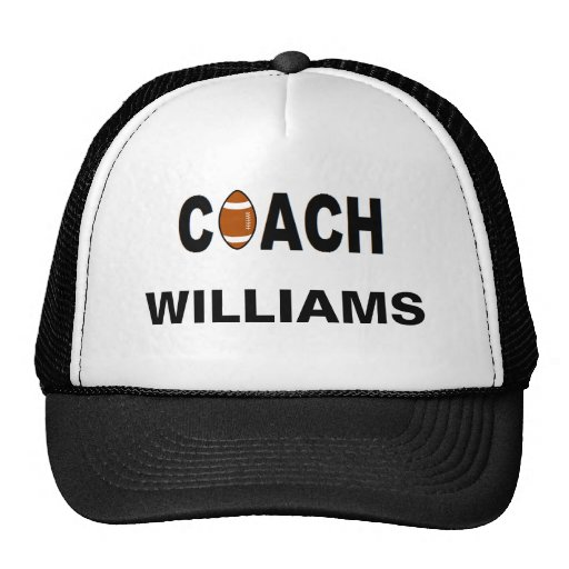 Coach - Football - Personalized Mesh Hats