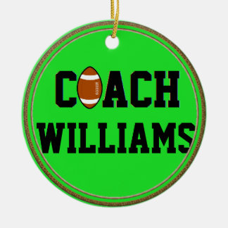 Coach- Football -Personalized Christmas Tree Ornament