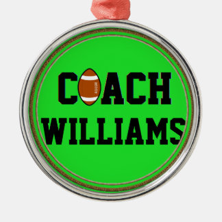 Coach- Football -Personalized Christmas Ornament