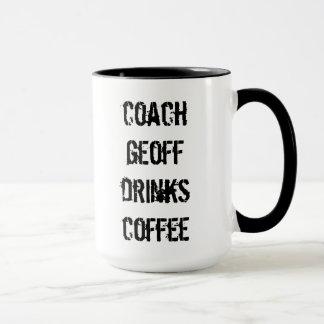coach geoff drinks coffee mug