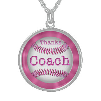 Coach Gifts Under 100 Dollars for Women Round Pendant Necklace