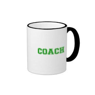 Coach Green Font Ringer Mug