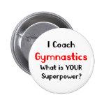 Coach gymnastics 2 inch round button