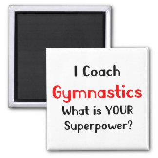 Coach gymnastics 2 inch square magnet