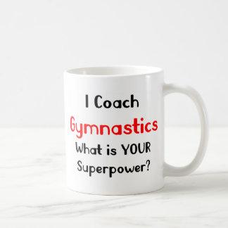 Coach gymnastics classic white coffee mug