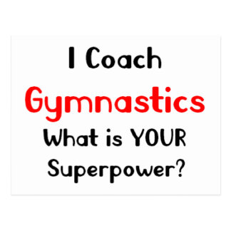 Coach gymnastics postcard