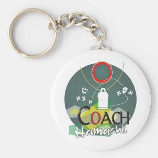 Coach Hamaskil Basic Round Button Keychain