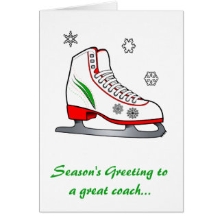 Coach Happy Holidays with Ice Skate Card