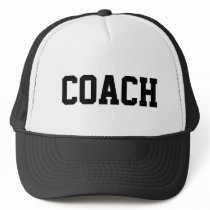 Coach hat for sports teams | customizable colors