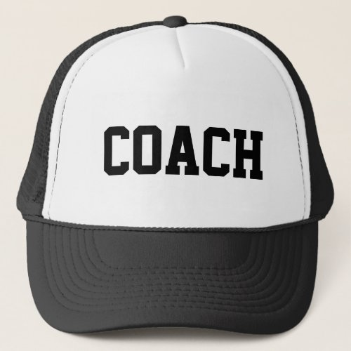 Coach hat for sports teams  customizable colors