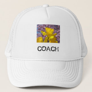 COACH hats Yellow Daffodil Flowers Sports