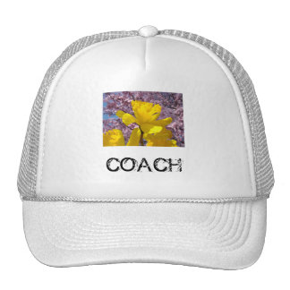 COACH hats Yellow Daffodil Flowers Sports
