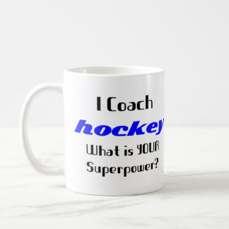 Coach hockey classic white coffee mug