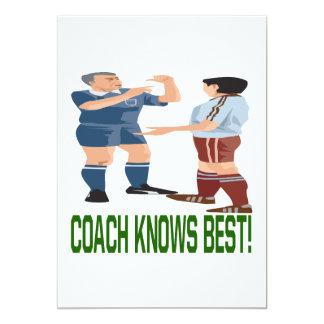 Coach Knows Best 5x7 Paper Invitation Card