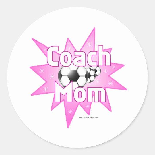 Coach Mom Classic Round Sticker