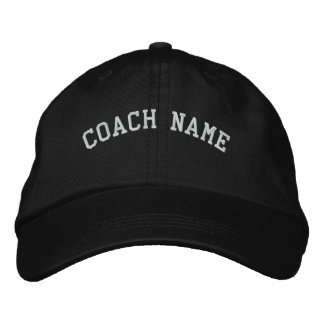 Coach Name Personalized Embroidered  Cap Black Embroidered Baseball Caps