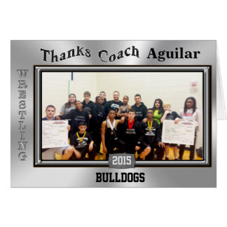 Coach NAME, YEAR and TEAM PHOTO Wrestling Card