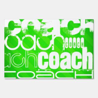 Coach; Neon Green Stripes Sign