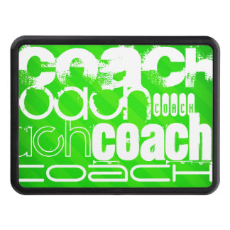 Coach; Neon Green Stripes Tow Hitch Cover