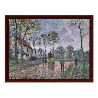 Coach Of Louveciennes By Pissarro Camille Postcard