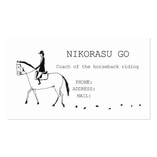 Coach of the horseback riding 名刺