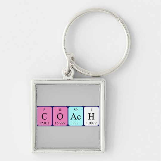 Coach periodic table keyring