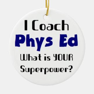 Coach phys ed ceramic ornament