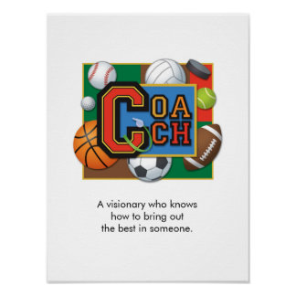 """""""Coach"""" Poster"""