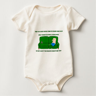 Coach Potato Baby Bodysuit
