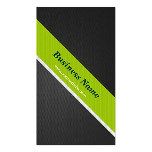 Coach - Premium Black and Green Business Card Template (back side)