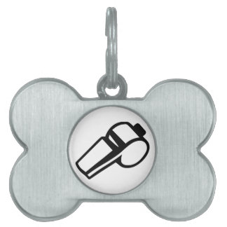 Coach Referee whistle Pet Tag