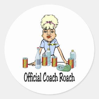 Coach Roach Classic Round Sticker