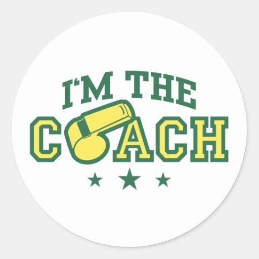 Coach Round Sticker