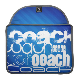 Coach; Royal Blue Stripes Sleeve For MacBooks