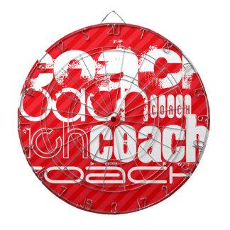Coach; Scarlet Red Stripes Dartboard