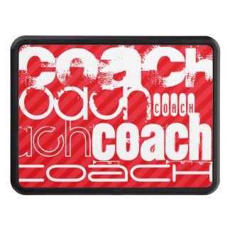 Coach; Scarlet Red Stripes Tow Hitch Covers