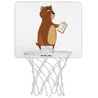 Coach Sleepy Bear Mini Basketball Hoop