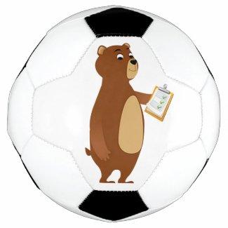 Coach Sleepy Bear Soccer Ball