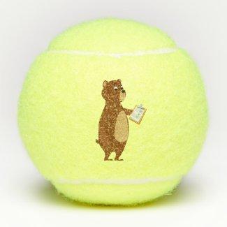 Coach Sleepy Bear Tennis Balls