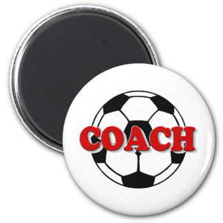 Coach (Soccer Ball) 2 Inch Round Magnet