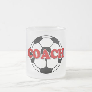 Coach (Soccer Ball) Frosted Glass Coffee Mug