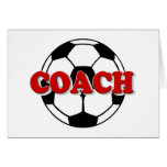 Coach (Soccer Ball) Greeting Card