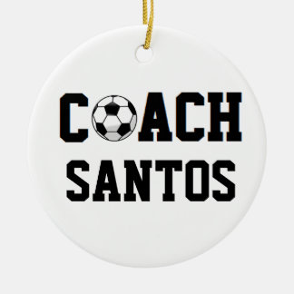 Coach - Soccer (Personalized) Christmas Ornament
