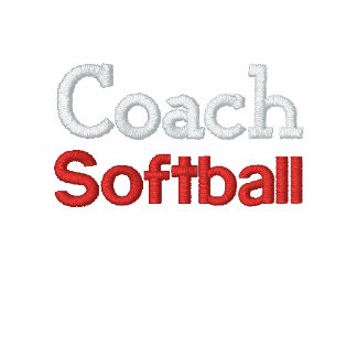 Coach Softball embroidery Embroidered Jackets