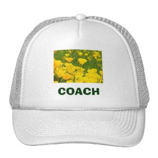 COACH sports Hats Orange Poppy Flowers