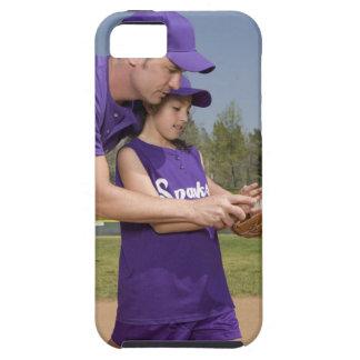 Coach teaching little league player iPhone 5 cases