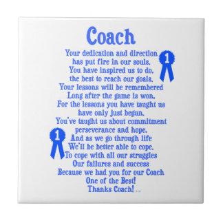 Coach Thank You Ceramic Tile