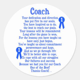 Coach Thank You Classic Round Sticker