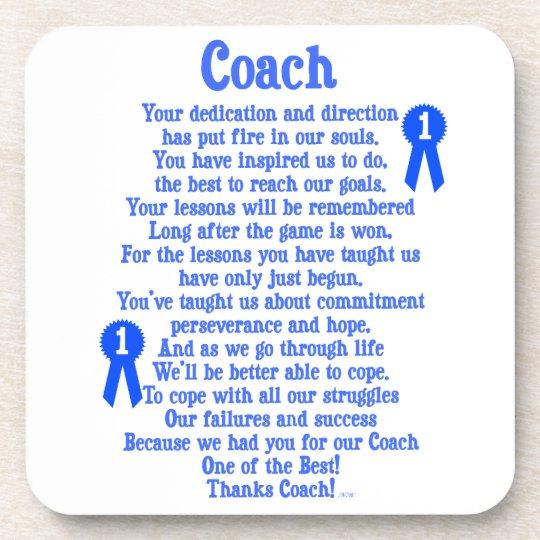 Coach Thank You Coaster